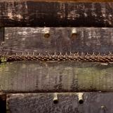 Détail intérieur cabane à dégustation - Casier